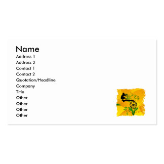 Orange Abstract Surfer Double-Sided Standard Business Cards (Pack Of 100)