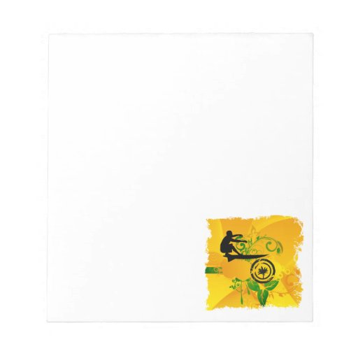 Orange Abstract Surfer Scratch Pad