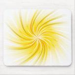 Orange Abstract Swirl Mousepad
