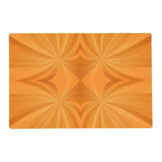 Orange abstract Swirl Placemat