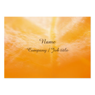 Orange Abstract Synergic Energize Businesscard Large Business Card