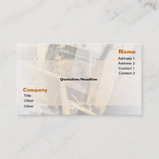 Orange Abstract Tractor Business Card