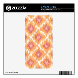Orange Abstract Tribal Ikat Chevron Diamond Pattrn Decal For The iPhone 4