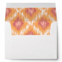 Orange Abstract Tribal Ikat Chevron Diamond Pattrn Envelope