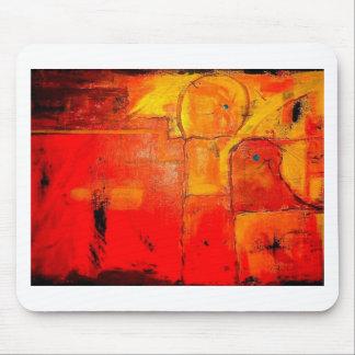Orange Abstract  Unique Painting vibrant colors Mouse Pads