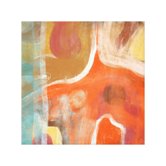 "Orange Abstract Untitled No. 67, 12"" x 12"", 1.5"" Canvas Print"