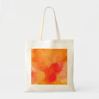 Orange abstract watercolor texture. Colorful hand Tote Bag