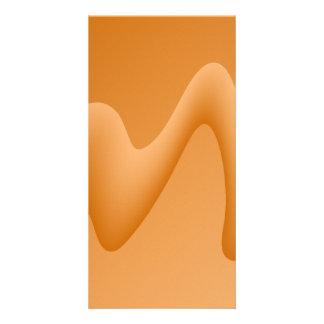 Orange Abstract Wave Image. Photo Cards