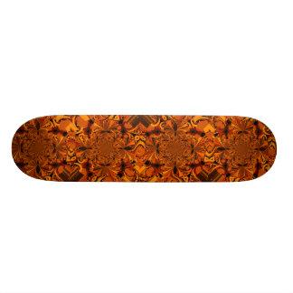Orange Abstraction Skateboard