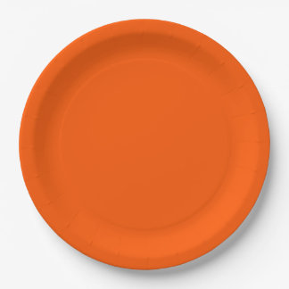 Orange Accent Color Ready to Customize 9 Inch Paper Plate