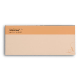 Orange Accent Security # 10 Business Envelope