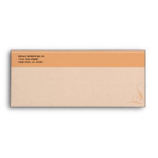 Orange Accent Security # 9 Business Envelope