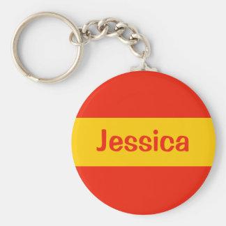 orange add a name basic round button keychain