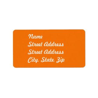 Orange  Address Sticker Address Label
