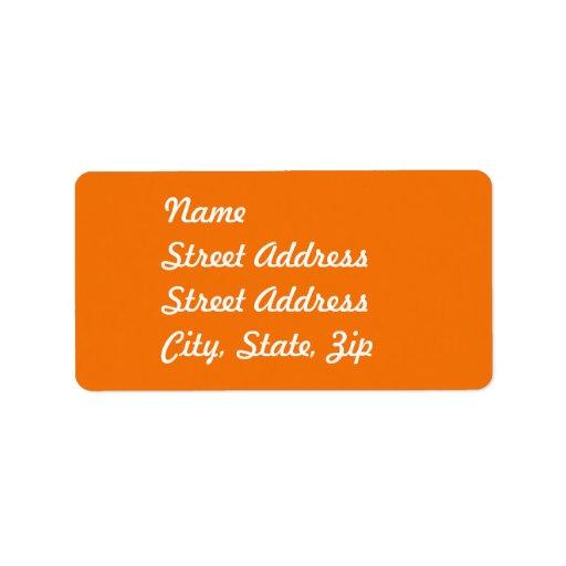 Orange  Address Sticker Custom Address Labels