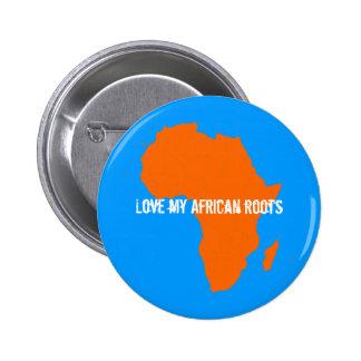 Orange Africa Continent Button