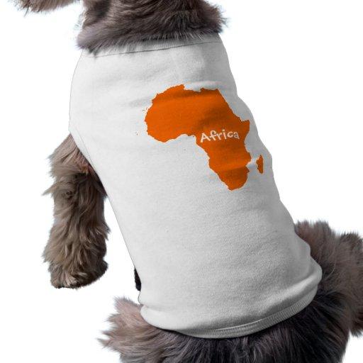 Orange Africa Continent Dog Clothes