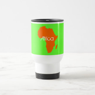 Orange Africa Continent Mug