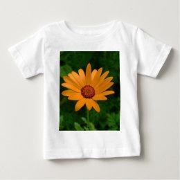Orange African Daisy Baby T-Shirt
