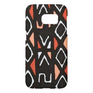 Orange African Mudcloth Tribal Print Samsung Galaxy S7 Case