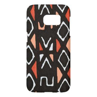 Orange African Mudcloth Tribal Print Samsung Galaxy S7 Case