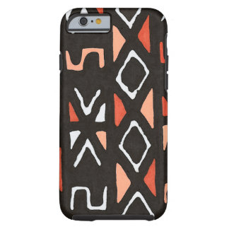 Orange African Mudcloth Tribal Print Tough iPhone 6 Case