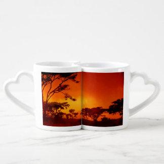 Orange African Sunset Coffee Mug Set