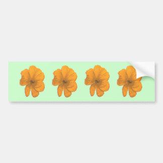 Orange Aid/ PopArt Flower Bumper Sticker