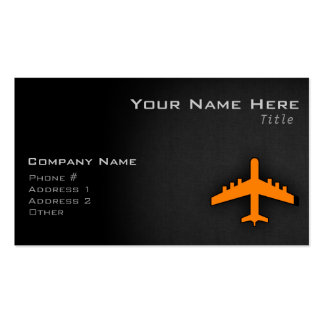 Orange Airplane Business Card