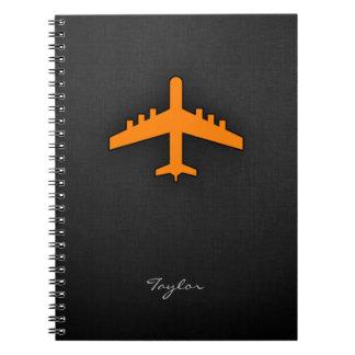 Orange Airplane Spiral Notebook