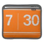 Orange alarm clock sleeve for iPads
