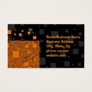 Orange alert float abstract Halloween black box Business Card