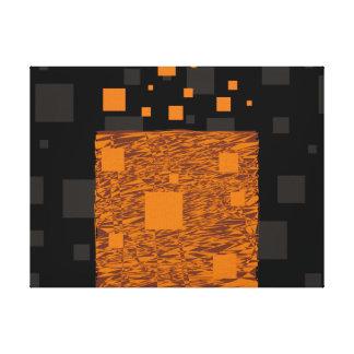 Orange alert float abstract Halloween black box Canvas Print