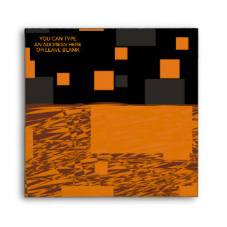 Orange alert float abstract Halloween black box Envelope