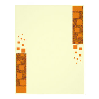 Orange alert float abstract Halloween black box Letterhead