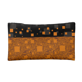 Orange alert float abstract Halloween black box Makeup Bag