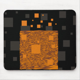 Orange alert float abstract Halloween black box Mouse Pad