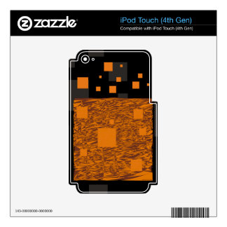 Orange alert float abstract Halloween black box Skins For iPod Touch 4G