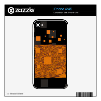 Orange alert float abstract Halloween black box Skins For The iPhone 4S
