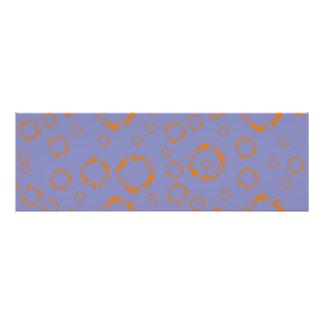 orange alert O pattern more circles.PNG Photographic Print