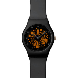 Orange alert watch float space watch time art