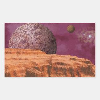 Orange Alien World Stickers