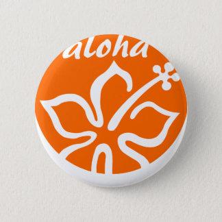 Orange aloha flower button