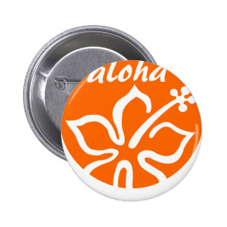 Orange aloha flower pins