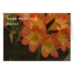 Orange Amaryllis Greeting Cards