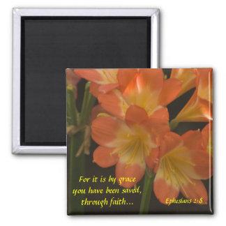 Orange Amaryllis Fridge Magnet