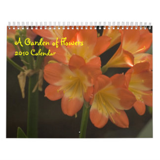 Orange Amaryllis Wall Calendar