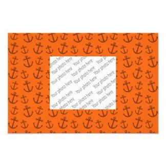 Orange anchor pattern photo