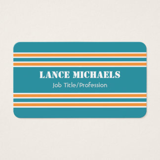 Orange and Aqua Jersey Business Card