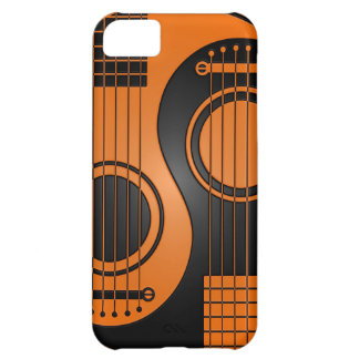 Orange and Black Acoustic Guitars Yin Yang Cover For iPhone 5C